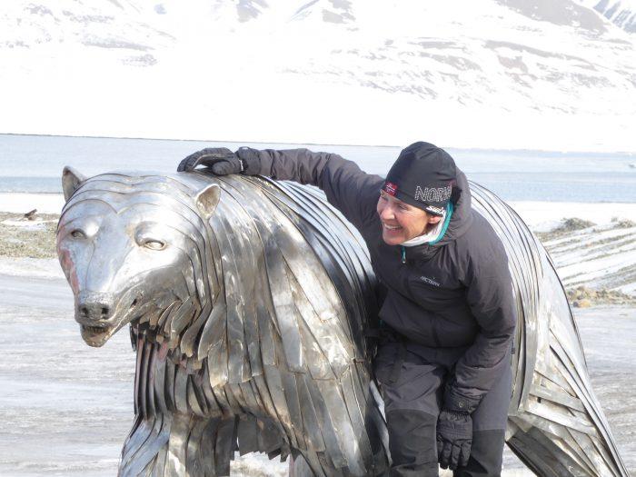 Marit Isbjørnstatue Svalbard